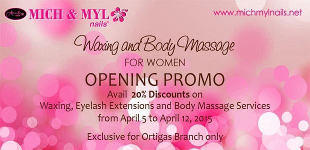 Body Massage Opening Promo