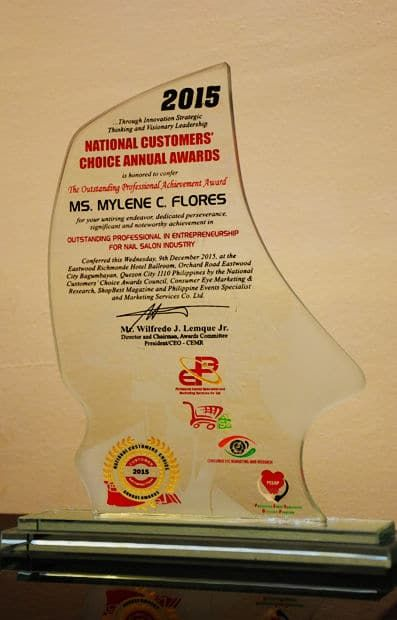 National Customer's Choice Annual Awards 2015 Plaque