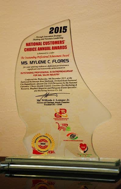 National Customer's Choice Annual Awards 2015 Plaque