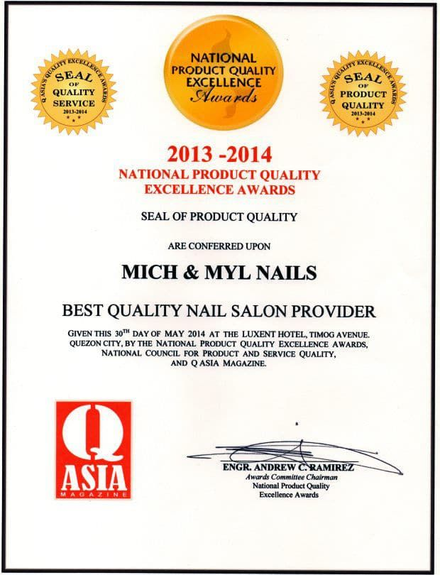 Mich & Myl Nails Q Asia Magazine Awards 2014