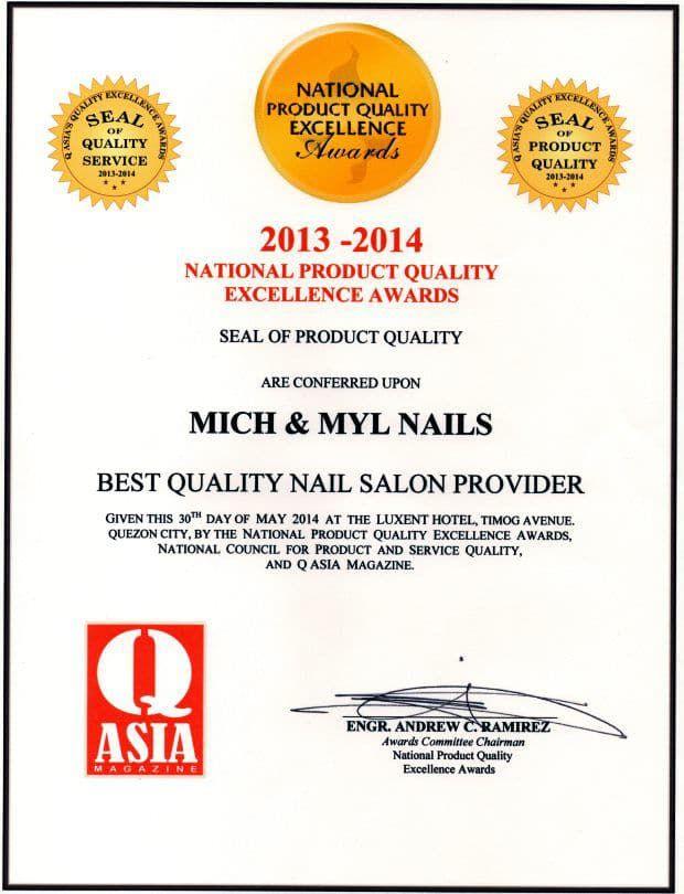 Mich & Myl Nails Q Asia Magazine Awards 2014