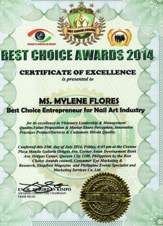 Mylene Flores Best Choice Awards 2014